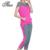 Padrão quadriculado Das Mulheres Conjuntos de Roupas de Verão Da Moda Plus Size L-4XL Coreano Lady Estilo Casual Ternos de Algodão 2 Peças