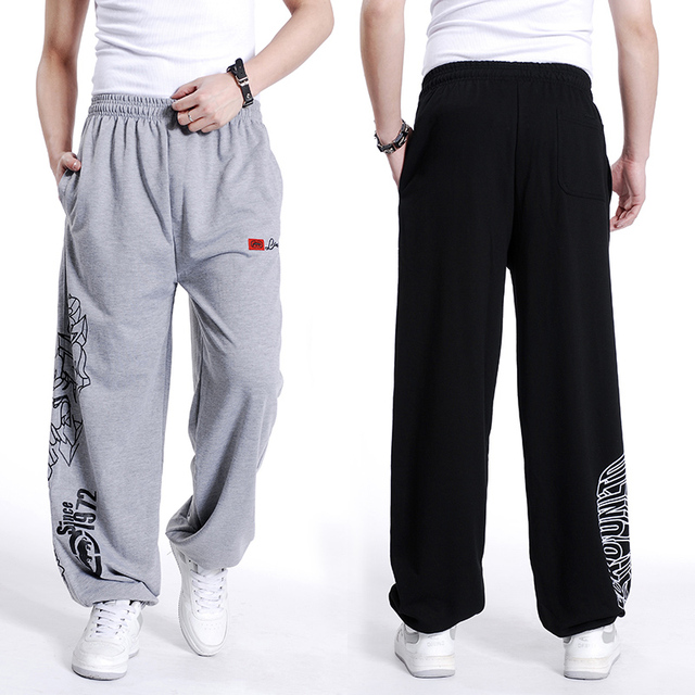 2016 autumn winter Cotton Loose man  Fat Pants Mens Sweatpant Hip-hop trousers pantalon plus size guardian parkour pant xl-5xl