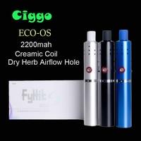 Orignial Ciggo Herbstick FyHit Eco Ciggo Vaporizer Dry Herb Airflow Hole 2200mah Mini Vape Pen Style Dry Herbal Vaporizer Pens