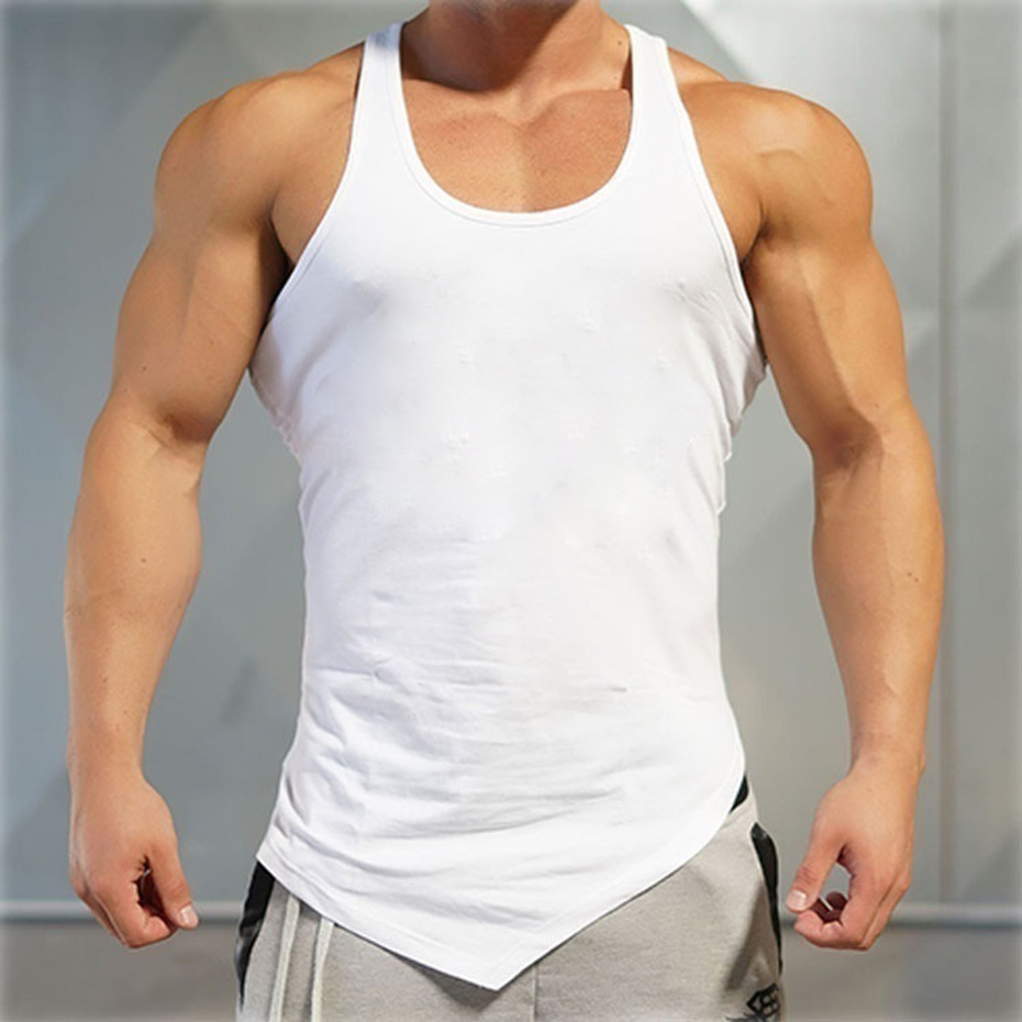 Zogaa 2019 Fashion Mens Tank Top Bodybuilding Stringer Tank Top Men Fitness Vest Muscle Guys Sleeveless Workout Tank Tops Shirt