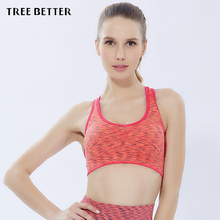 TREE BETTER 3D Sports Bra Fitness Yoga Female Jogging Shock Proof Vest No Steel Full Cup Underwear Damping Spandex Nylon