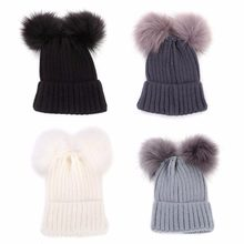 82f9a3099 Baby Double Pom Hat Promotion-Shop for Promotional Baby Double Pom ...