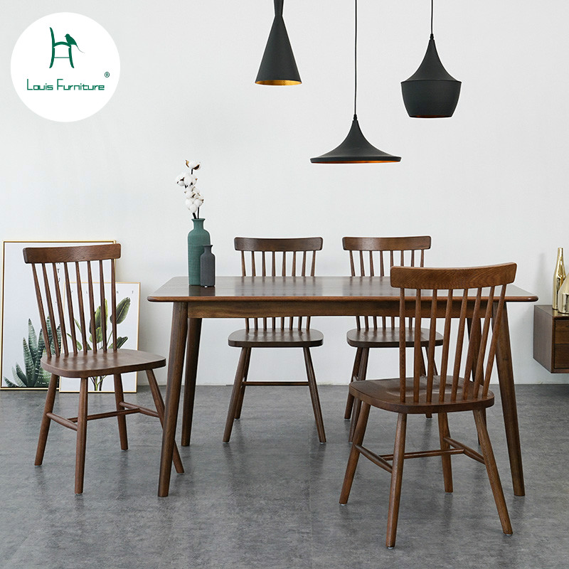 Small Wood Dining Tables: Louis Fashion Table Nordic Solid Wood Dining Table, Small
