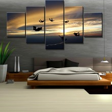 5 Piece HD Print Large Group Skydive Extreme Sports Cuadros Landscape Canvas Wall Art Home Decor For Living Room Painting
