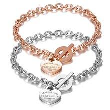 Женский браслет «любящее сердце» элегантный из нержавеющей стали