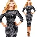 2017 moda floral impressão retro blac dress para as mulheres roupas robe ete plus size s/m/l/xl/xxl