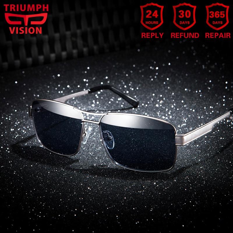 Sporting Triumph Vision Brand Designer Frame Rivet Prescription Glasses Men Photochromic Eyeglasses Anti Blue Ray Computer Glasses Myopia Handsome Appearance Men's Prescription Glasses
