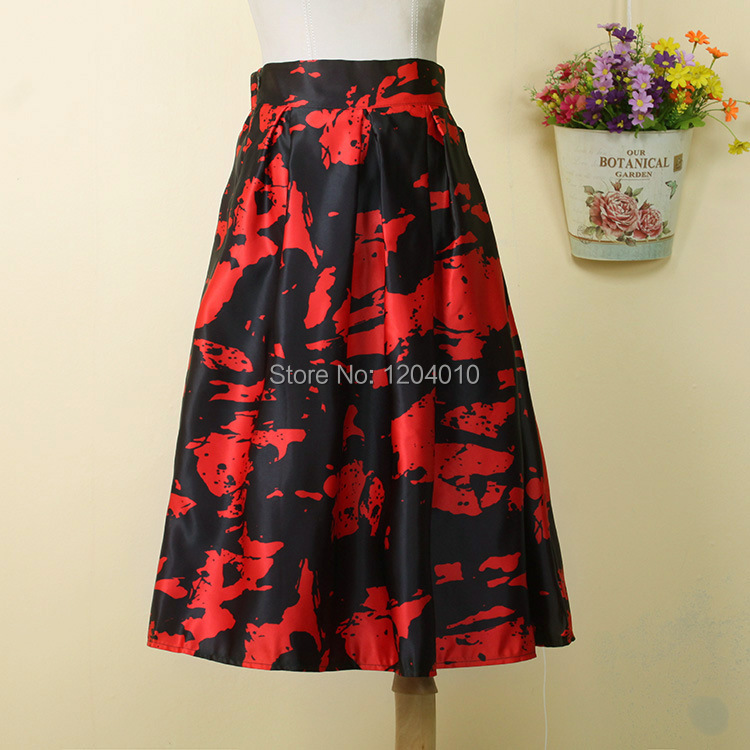 Black And Red Skirt - Skirts