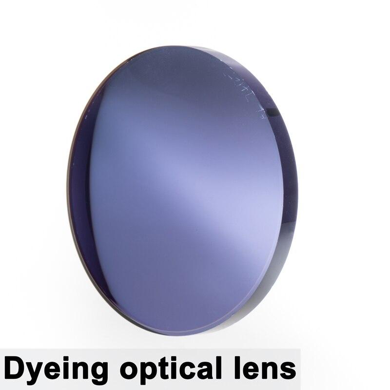 A Pair Of Optical Tinted Lens Dyed Myopia Presbyopia Aspheric Prescription Scratch-resistant 1.56 1.61 1.67 Index