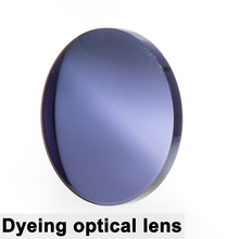 A Pair Of Optical Tinted Lens Dyed Myopia Presbyopia Aspheric Prescription Scratch resistant 1.56 1.61 1.67 Index