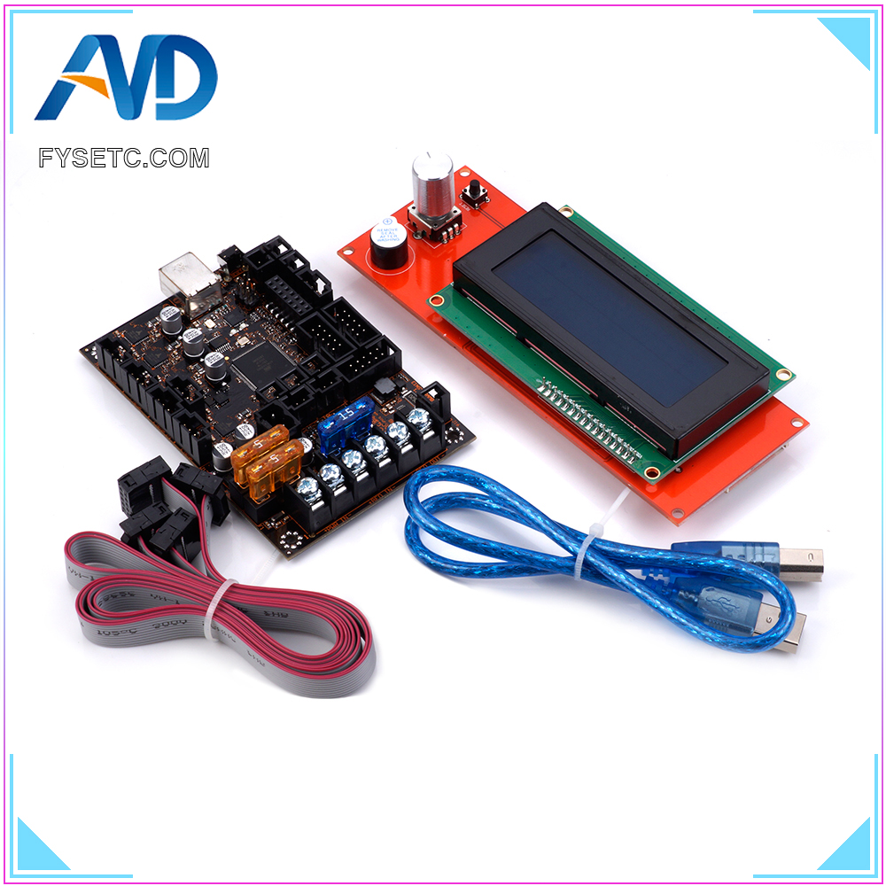 2004 LCD Display EinsyRambo 1 1a Mainboard For Prusa i3 MK3 With 4 Trinamic TMC2130 Control