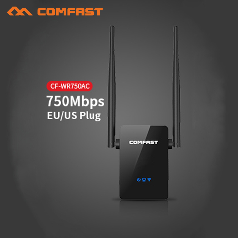 6PCS COMFAST 750Mbps wireless wifi repeater router Signal Booster 5Ghz dual band network 10dbi Antenna Range extender CF-WR750AC