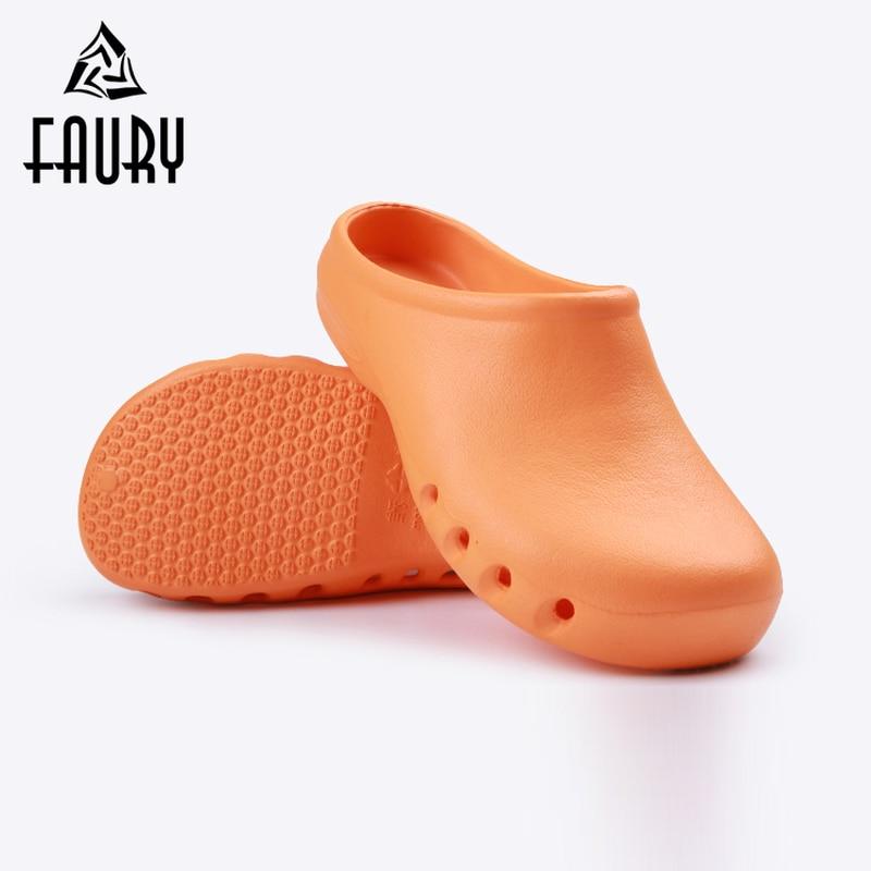 Orange 2018 New Hospital Work Shoes Summer Breathable Non-slip Doctor Nurse Surgical Footwear EVA Slippers Medical Flip Flops