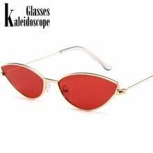 Metal Frame Women Cat Eye Sunglasses Cute Sexy Brand Designer Summer Retro Small Frame Black Red Cateye Sun Glasses UV400