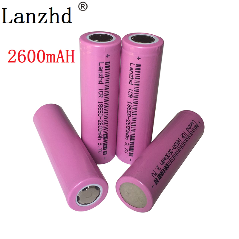 1-8PCS 18650 battery 3.7V lithium 2600mah batteries ICR18650  li-ion for samsung flashlight li ion