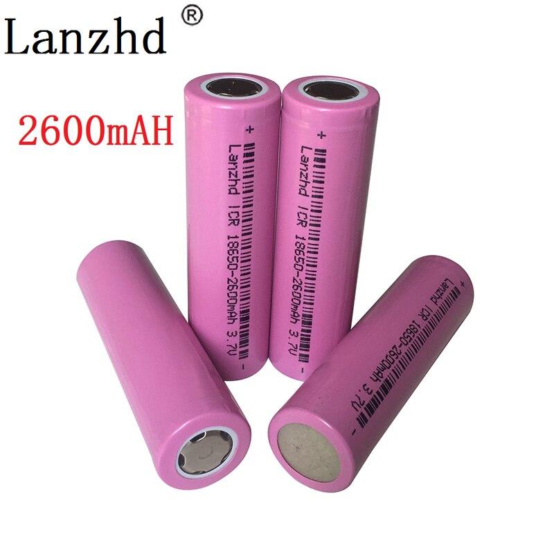 1-8PCS 18650 Battery 3.7V Lithium 2600mah Batteries ICR18650  Li-ion Battery For Samsung Flashlight Batteries  Li Ion
