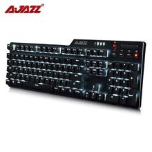 Authentic Ajazz AK35i 104 Keys Wired White LED Backlight USB Ergonomic illuminated Mechanical Gaming Keyboard For Laptop computer Pc