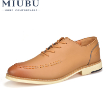 MIUBU Shoes Men Dress Oxford Summer Leather Business Casual 2019 New Arrivals Cheap  Zapatos Hombre