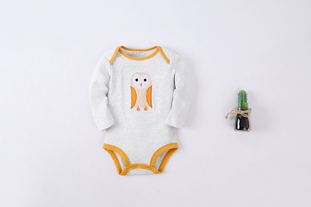New fashion autumn children's rompers baby owl monster pattern one pieces body suits for boy girls clothes  7 style