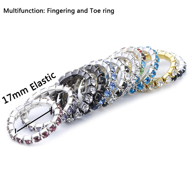 b8da2c6fc1 US $2.98 |Fashion Foot Rings for Women Row Crystal Rhinestone Adjustable  Stretch Foot Toe Rings Gold Silver Color Wholesale 5Pcs/lot -in Wedding  Bands ...