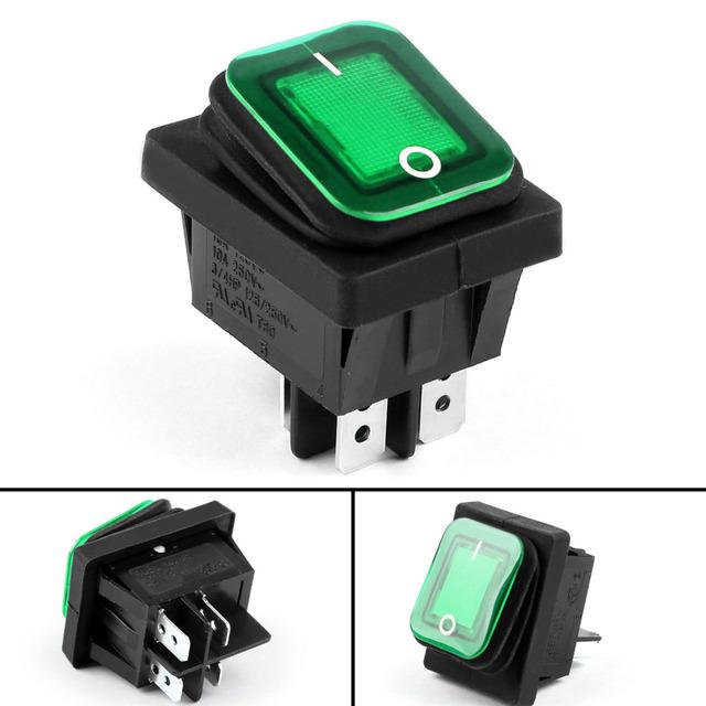 Areyourshop Rocker Switch 4 Pin 2 Position Waterproof IP65 Boat RL2-102 Car Rocker Switch ON/OFF 16A
