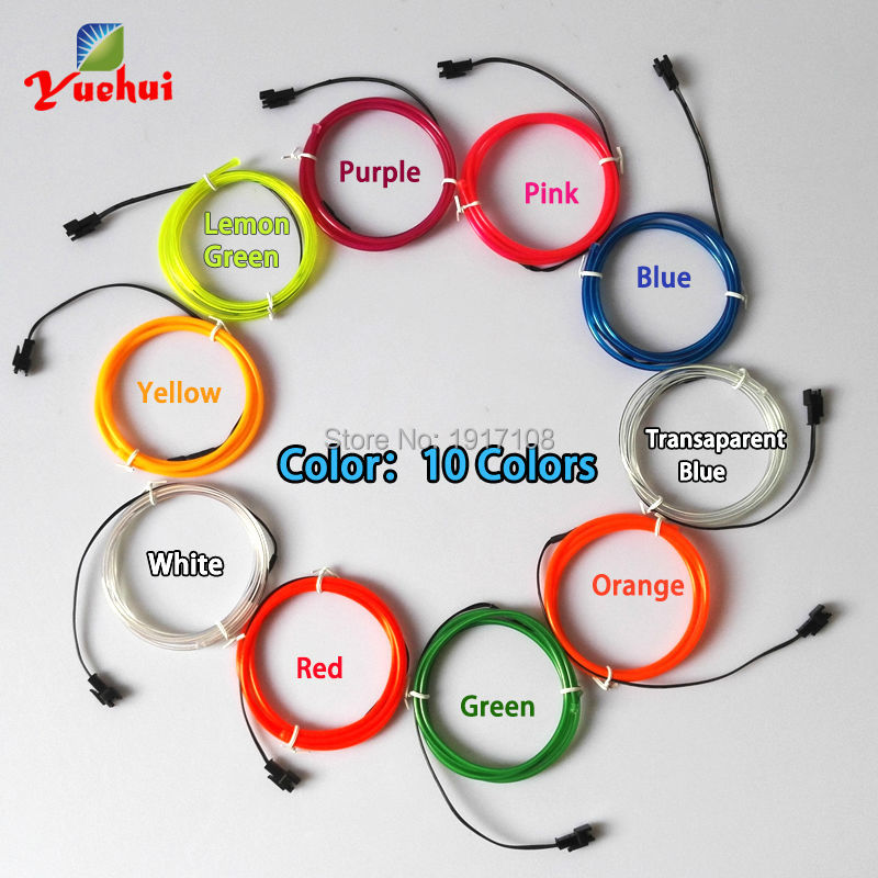 3,2mm 1 Meter x 6 stücke multicolor flexible EL draht ...