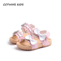 CCTWINS KIDS 2018 Summer Fashion Baby Girl Hollow Sandal Toddler Pu Leather Beach Sandal Children Butterfly