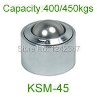 Ahcell Chrome Bearing Steel Ball Conveyor Caster Roller KSM 45 450kg Heavy Duty Free Run Wheel