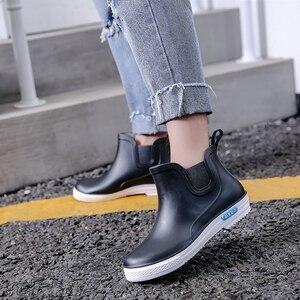Image 4 - Swyovy Botas de lluvia impermeables para mujer, zapatos de agua, botas de agua para mujer, 2018