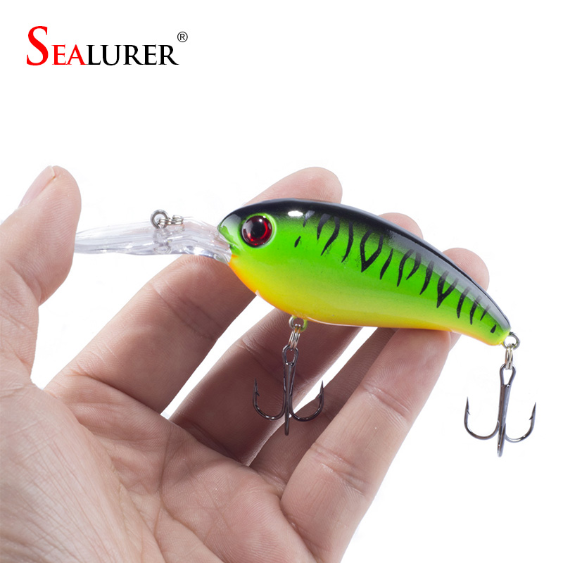 1PCS Fishing Lure Deep Swimming Crankbait 10cm 14g Hard Bait 5 Colors Available Tight Wobble Slow Floating Fishing Tackle environmentally friendly pvc inflatable shell water floating row of a variety of swimming pearl shell swimming ring