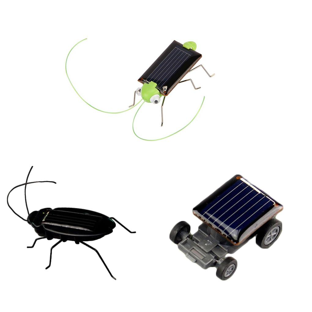 Novelty Creative Gadget Solar Power Robot Insect Car Spider For Children's Christmas Toys Gifts Festival Solar Novelty toys boy