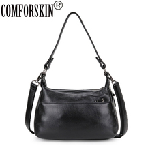 COMFORSKIN Brand Genuine Leather Ladies Shoulder Bag Large Capacity Women Messenger New Arrivals Cowhide