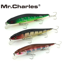 Mr.Charles CMC004 3Pcs/lot Fishing Lures ,110mm/14.5g 0-1.0m Three Hooks Floating Super Minnow
