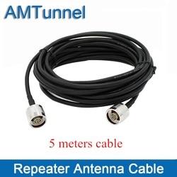 Cable coaxial cable repetidor cable de antena con N-macho a conector N macho 5 metros