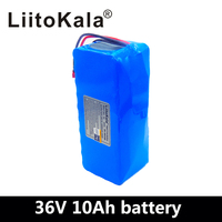 LiitoKala 36V 10Ah 500W High power&capacity 42V 18650 lithium battery pack ebike electric car bicycle motor scooter with BMS