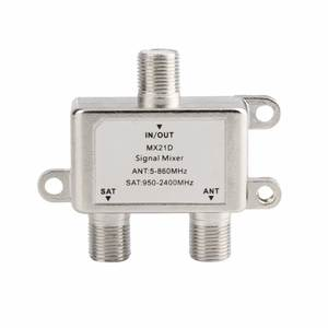 Switch Splitter Combiner-Cable Tv-Signal-Mixer Coaxial Sat Satellite Diplexer 2-Way 2-In-1