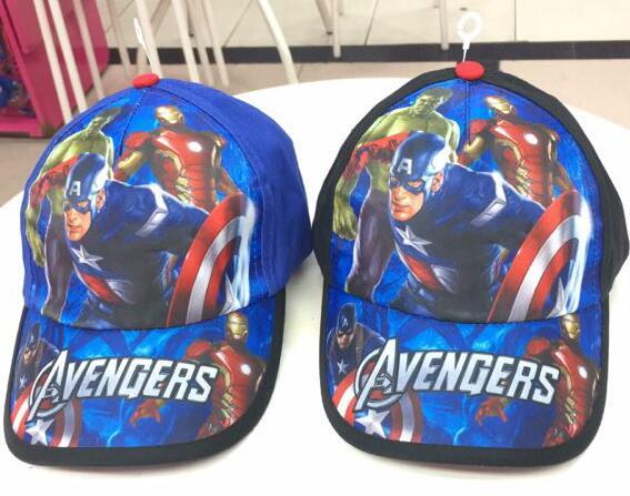 New 1pcs Avengers Hulk Iron Man Captain America  Fashion Sun Hat Mario Casual Cosplay Baseball Cap Child Gift T7