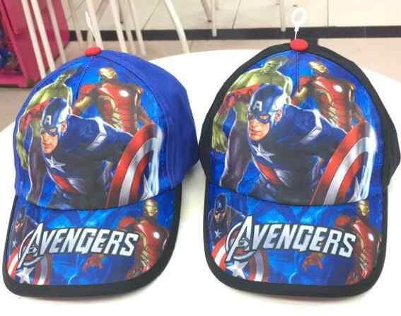 Nova 1pcs Vingadores homem de ferro hulk Capitão América Moda Chapéu de Sol Mario T7 Ocasional Boné de Beisebol Cosplay presente da Criança