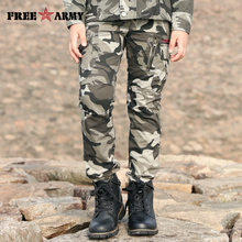 Boys Autumn Overalls Winter Cotton Pants Camouflage Sports Zipper Pockets Uniform Childrens KN-190B