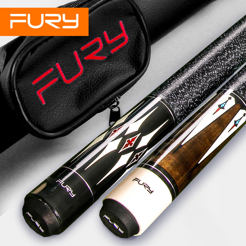 FURY DL Handmade Pool Cue Stick With FURY Original Case Hardwood North American Maple Pool Billiard Cue Kit 11.75mm 12.75mm Tip : 91lifestyle