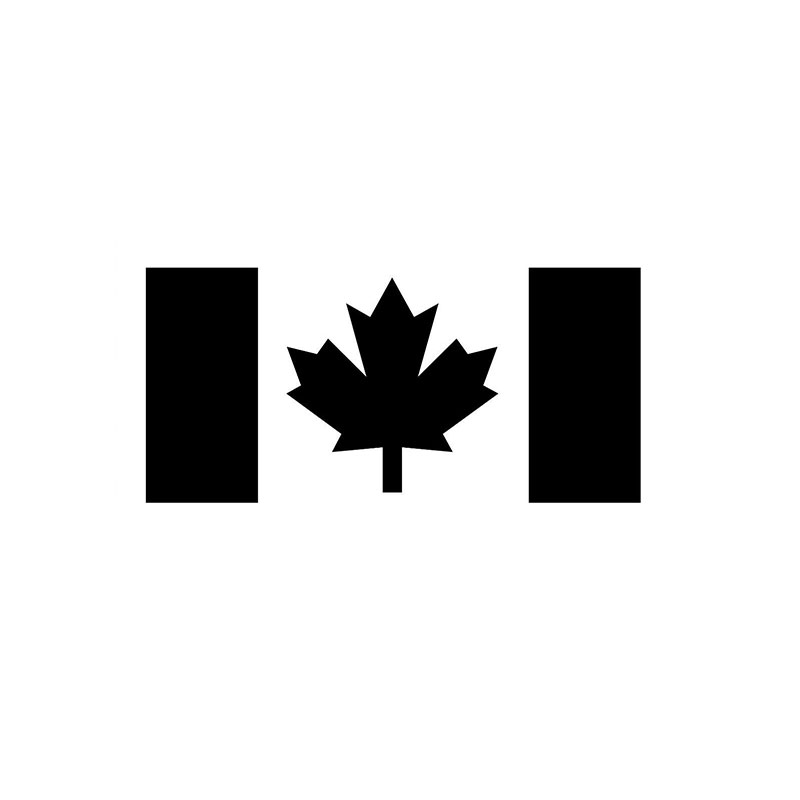 Canada Flag Vinyl Decal Bumper Sticker Canadian Flag Decal Car Bumper Sticker