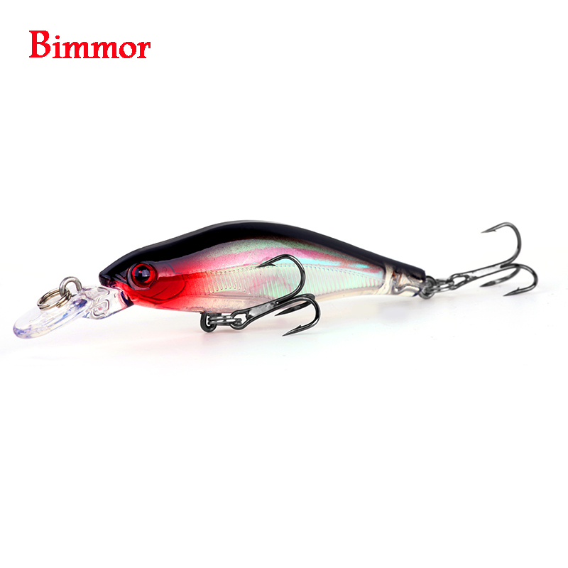 Bimmor Minnow Fishing Lure Wobbler 1pcs/lot 8cm/6g Plastic Slowly Sinking Pesca Carp Hard Bait Crankbait Fish Tackle 5 Colors mmlong 12cm realistic minnow fishing lure popular fishing bait 14 6g lifelike crankbait hard fish wobbler tackle pesca ah09c
