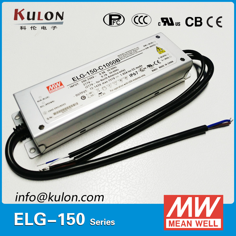 Original Mean well constant current LED driver ELG-150-C700B 700mA 150W PFC IP67 dimmable Meanwell power supply 150w 2800ma waterproof led driver meanwell lpc 150 2800 constant current design