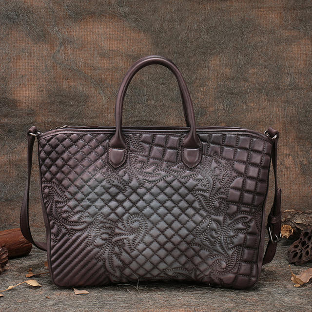 Embroidered Women Handbag Genuine Leather Vintage Women Cross body Shoulder bag 2017 Handmade High capacity Women Totes Bags