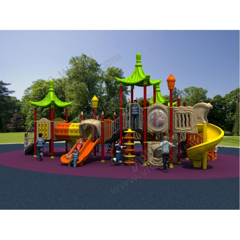 Bermain slide sekolah besar untuk anak-anak / taman hiburan untuk - Hiburan - Foto 3