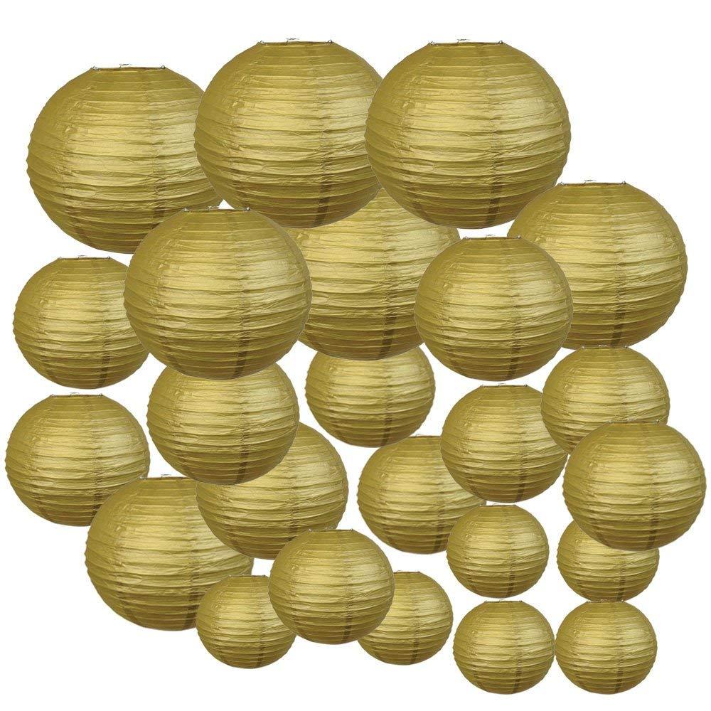 Lanternas de Papel de Ouro Lanternas de Papel para Festa Festa de Casamento do Dia Dia das Bruxas 24 Pcs 6 12 Japonês Chinês de Casamento do Pendurado Diy Decoração Favor