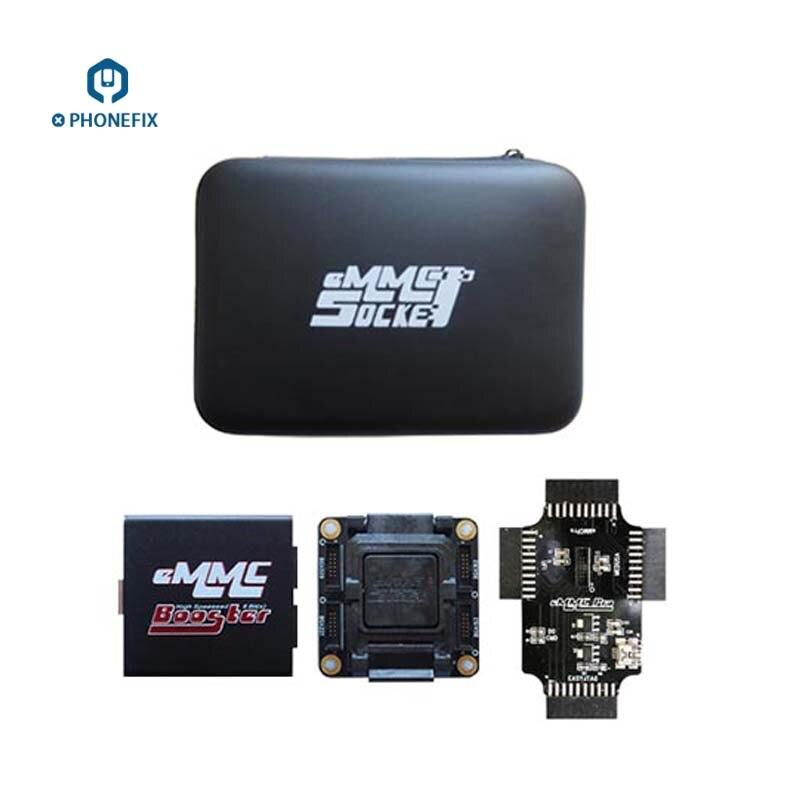 PHONEFIX Original EMMC Booster outil EMMC prise en charge du dispositif boîte EMMC facile Jtag Plus boîte UFI boîte arrière pour la réparation de téléphone portable