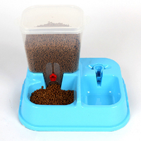 Pet Feeder Dual Automatic Pet Feeding And Watering Is Automatic Water Feeder Dog Cat Bowl Feeder