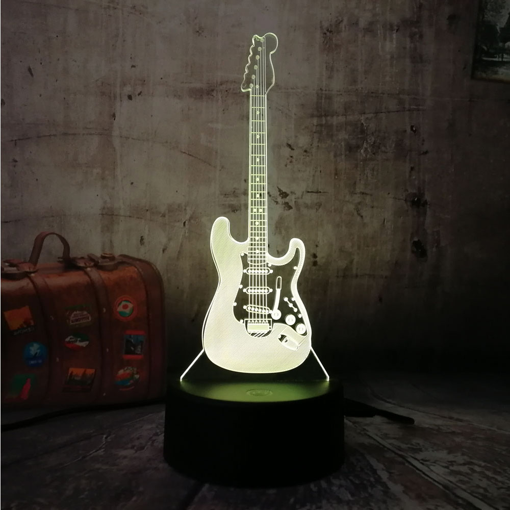 Electric Music Bass Chiristmas Gift 3D LED Model Night Light Desk Table Lamp 7 Color Change Gradient Baby Child Kid SkeepElectric Music Bass Chiristmas Gift 3D LED Model Night Light Desk Table Lamp 7 Color Change Gradient Baby Child Kid Skeep