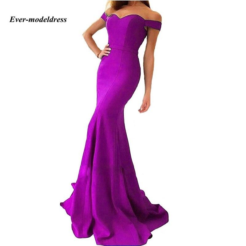 Fora do ombro vestidos de baile sereia